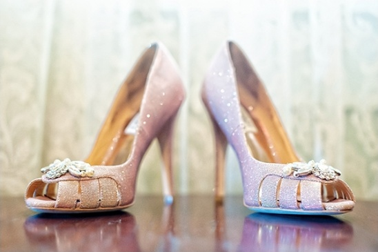 purple Badgley Mischka shoes