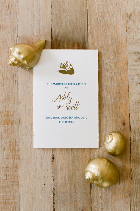 ceremony program by Chocolate Creative Design
