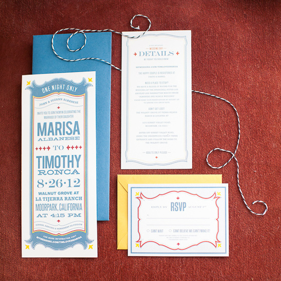 vintage inspired wedding invite by Cori Cook Floral Design