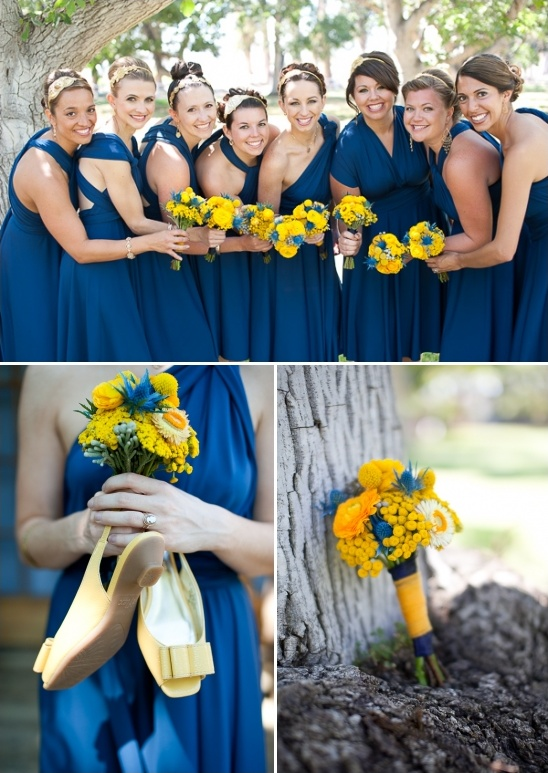 blue bridesmaid dresses by Dessy Group