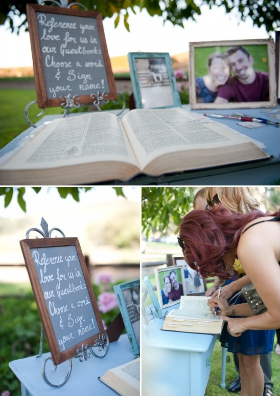 dictionary guest book ideas