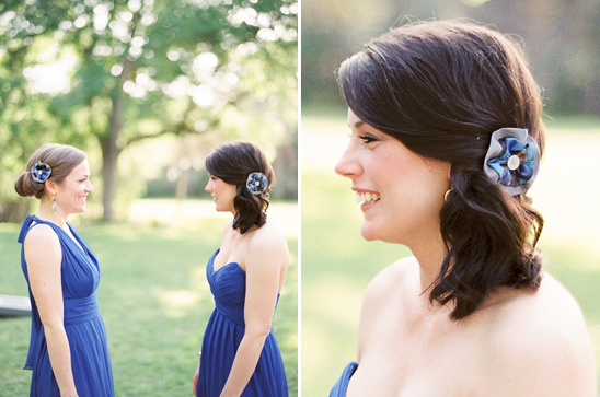 diy bridesmaid hair accessories