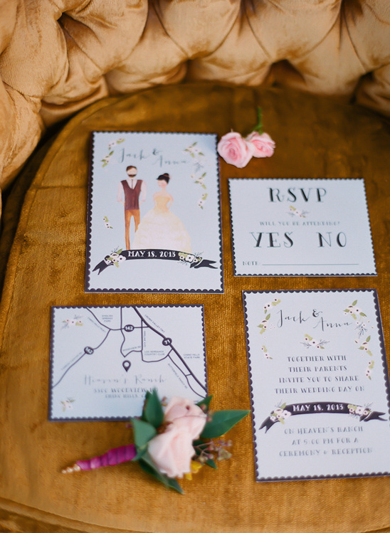 wedding stationary by Heart & Fox