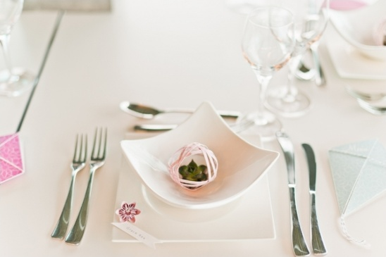 origami place setting ideas