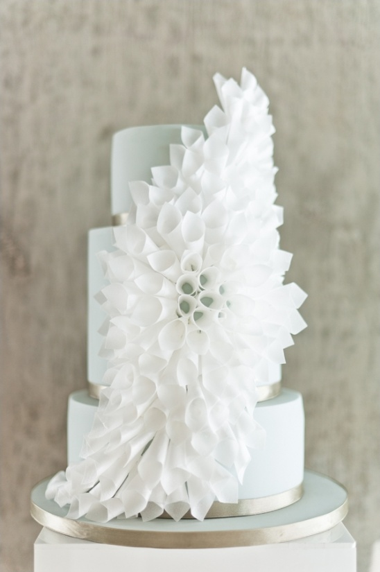 white origami wedding cake by Olofson Design