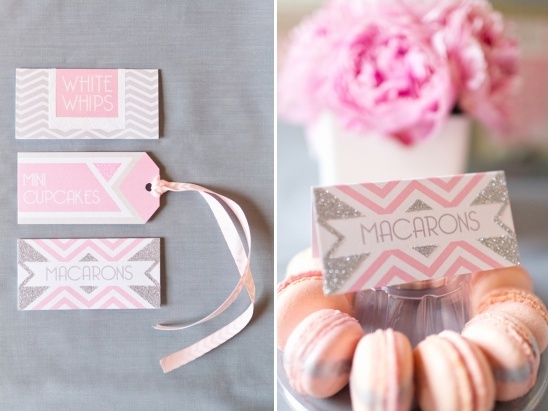 dessert labels by Paperknots and macarons by Anges De Sucre