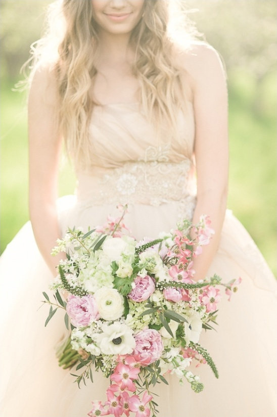 spring wedding bouquet by Flowers at Will