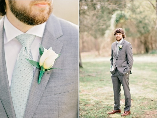 charcoal and mint groomsman looks