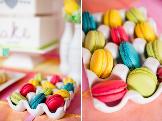 colorful macarons by Anges De Sucre