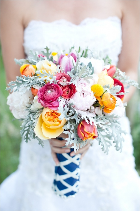 pink and orange wedding bouquet by Teagan Lee Milera Floral Design
