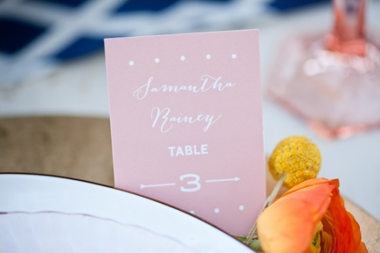 simple escort card ideas