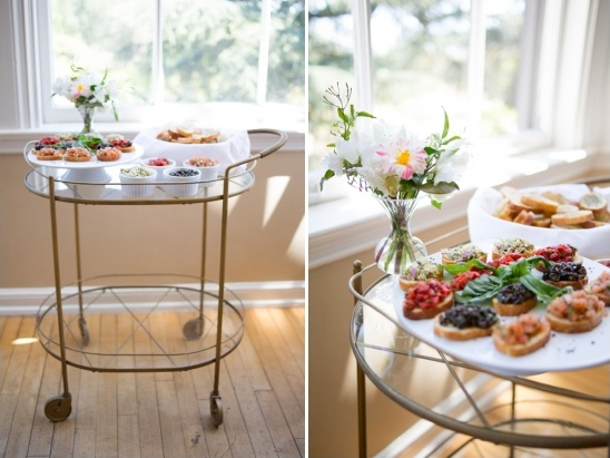 hors d'oeuvres cart
