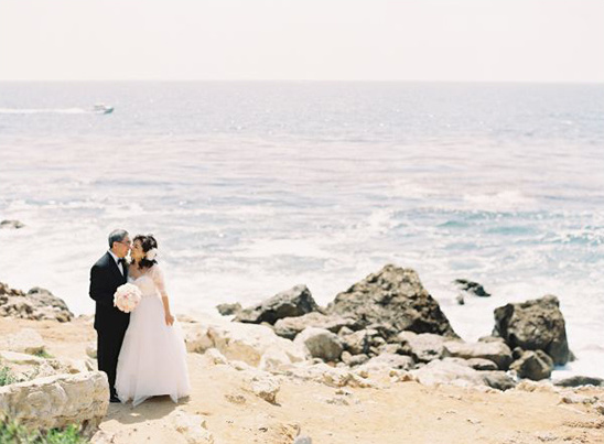 ocean front wedding reception