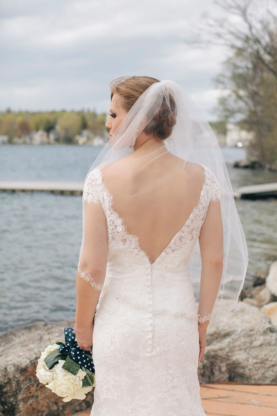 scoop back on wedding dress