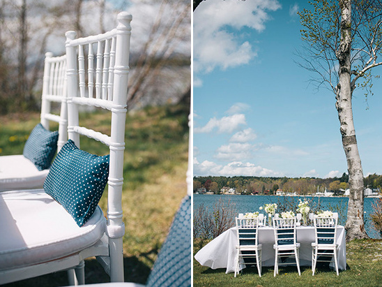 white and navy wedding ideas