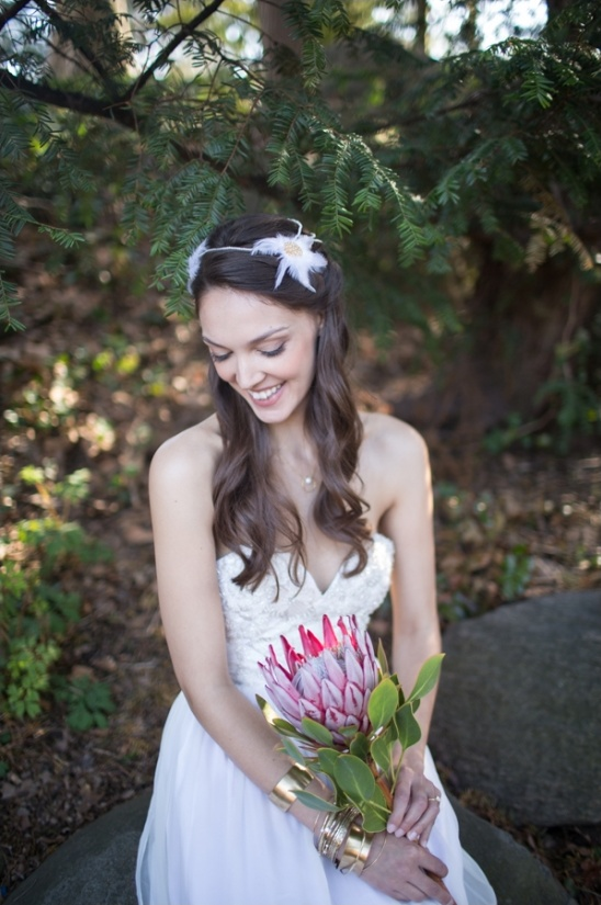 feathered headpiece by Hushed Commotion