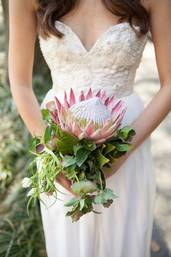 king protea bouquet by Karma Flowers