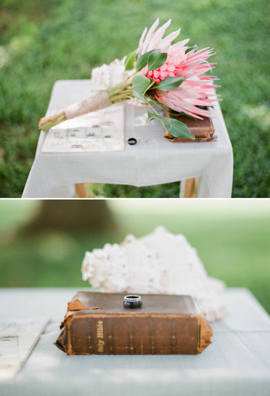 simple, rustic ceremony decor