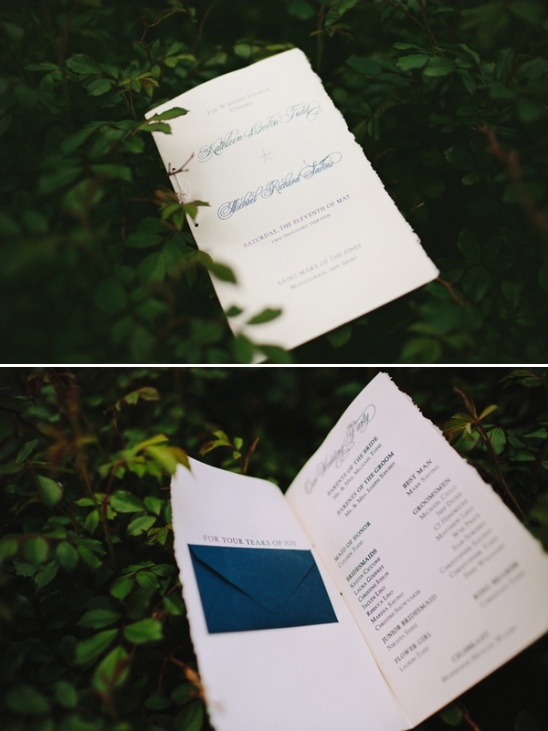 wedding programs by Dres Chic