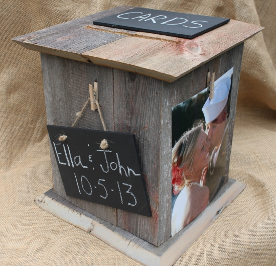 Gray wedding card box
