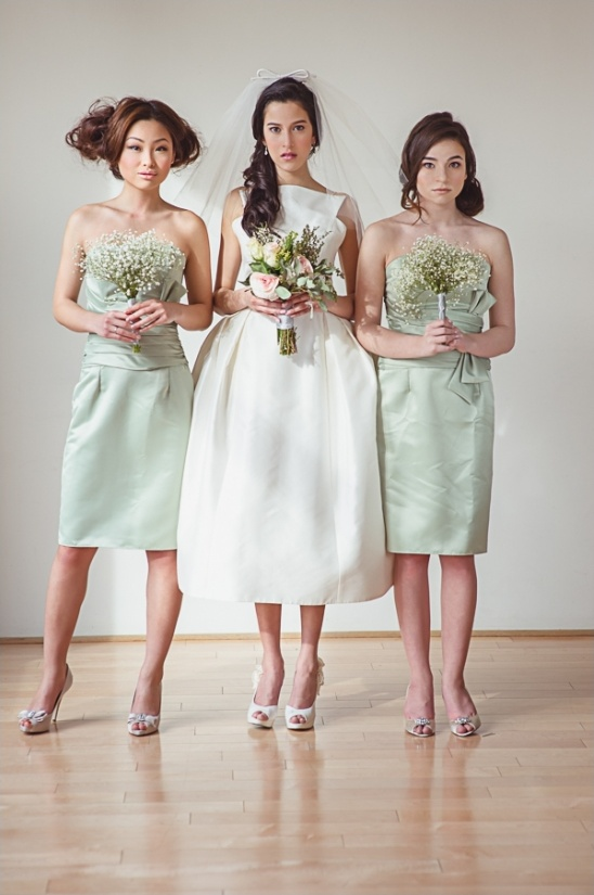 mint bridesmaid dresses by Ruche