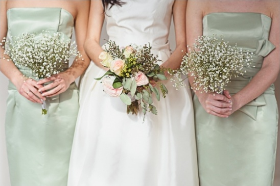 rose and baby\'s breath bouquets by Gracious Decor