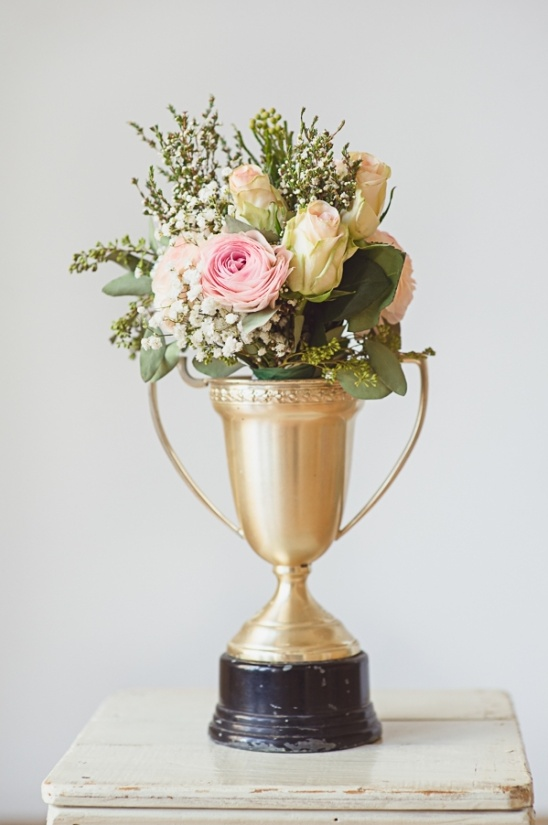 trophy floral arrangement