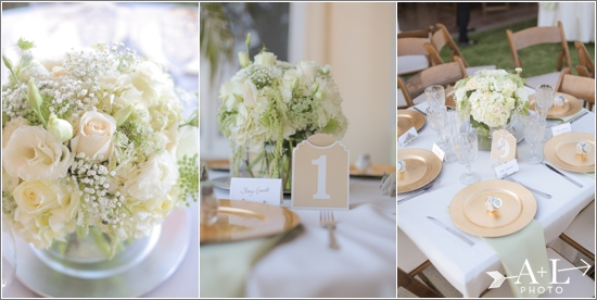 Mint and Gold Wedding Table Settings