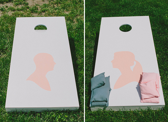 homemade cornhole game