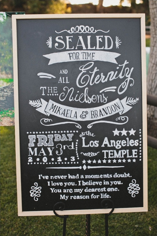 marriage announcement sign