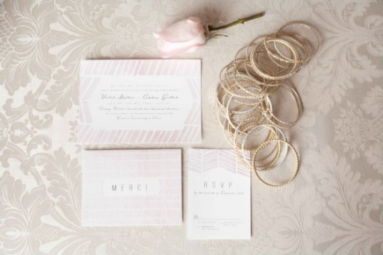 pink wedding invites by Lucky Penny Paperie