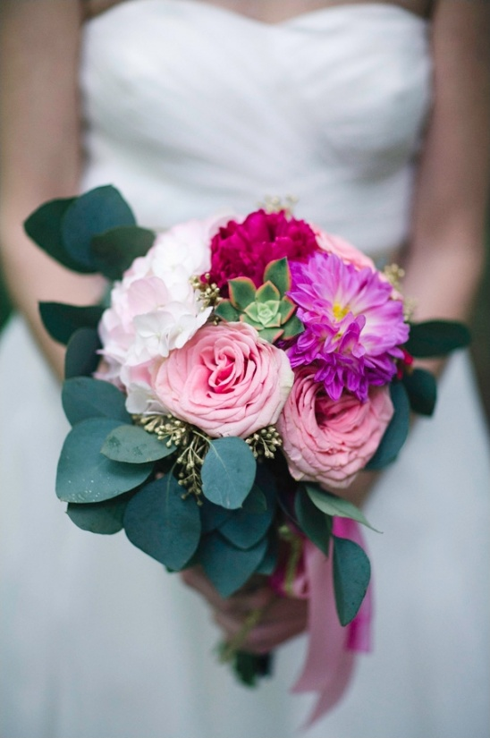pink and gold bridal bouquet by Uy-Lennon Flower and Design