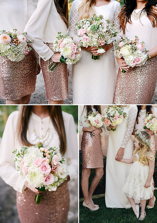 goldandwhitebridesmaiddresses