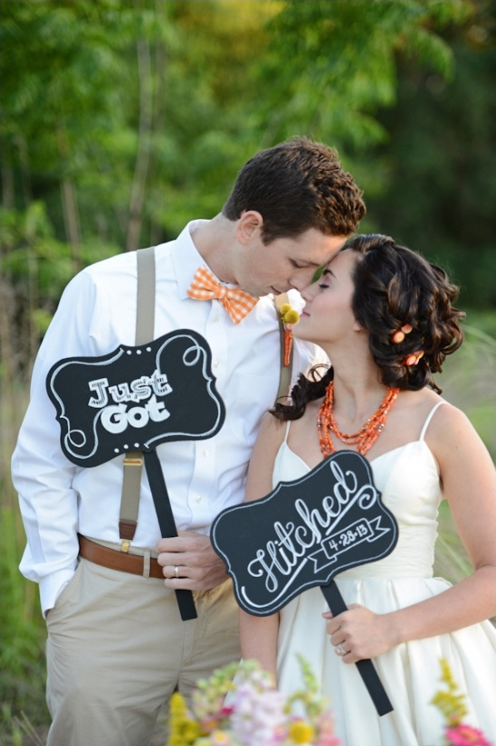 Just Got Hitched chalkboard signs