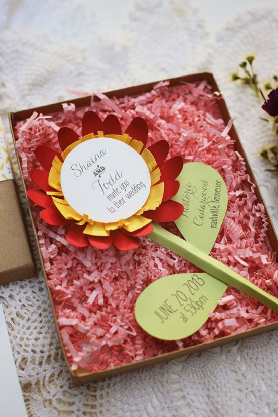 creative wedding stationary by Designs In Paper