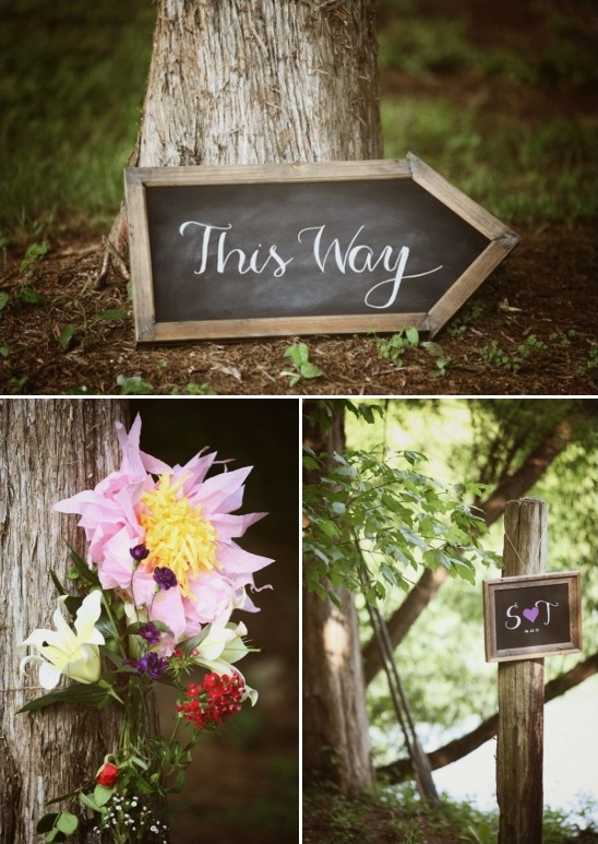 rustic chalkboard and wedding decor ideas