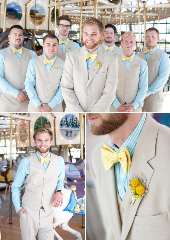 blue and yellow groomsman ideas