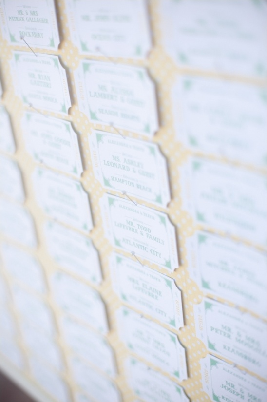 fair ticket escort cards