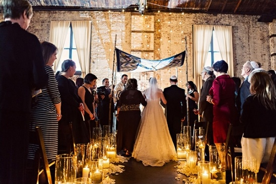 jewish wedding ceremony at The Green Building