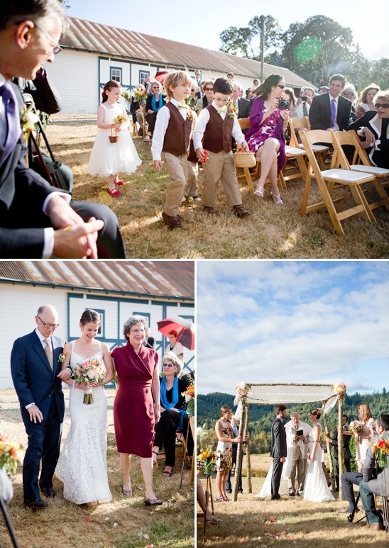 wedding ceremony at Blue Rooster Bed and Breakfast