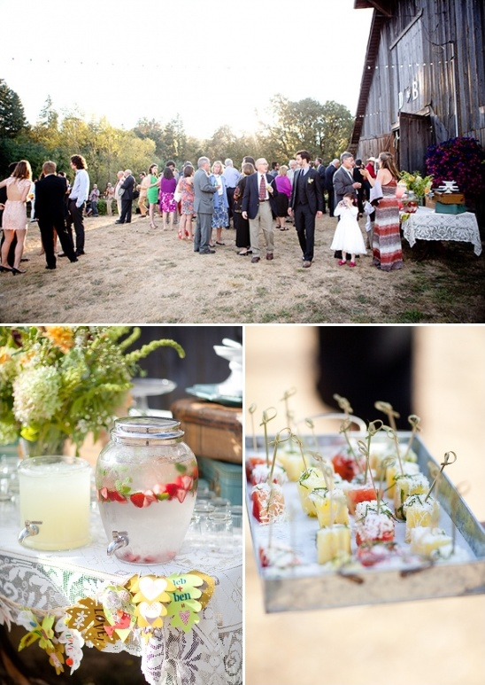 outdoor coctail hour ideas