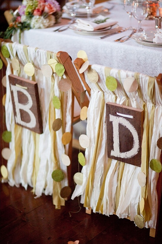 bride and groom chair decor ideas