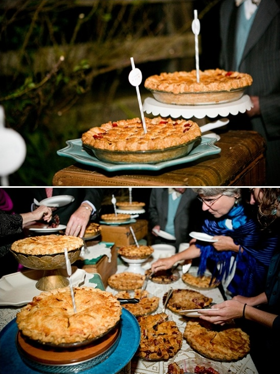 wedding pies instead of cake