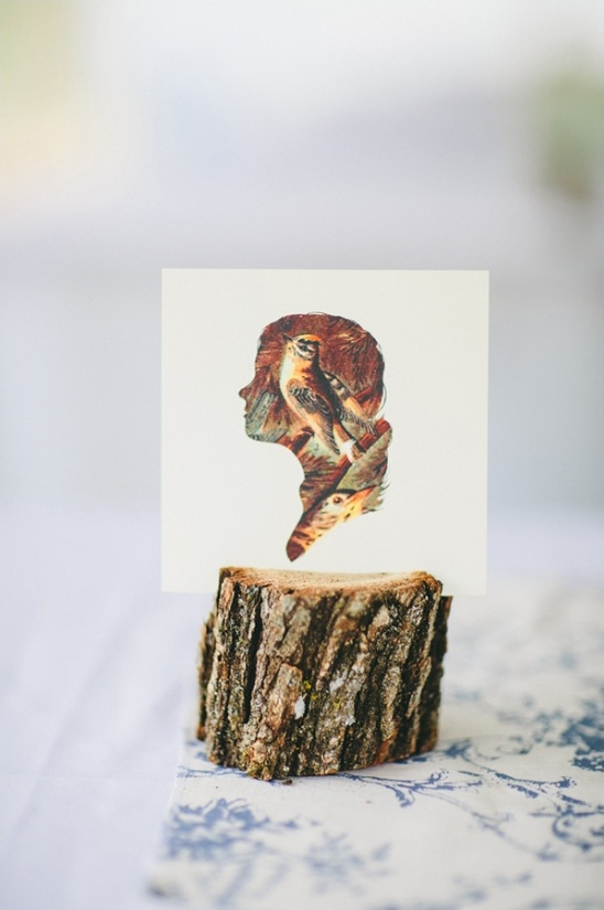 woodsy silhouette table decor