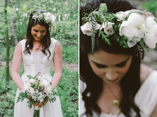 white peony floral crown by Spring Sweet