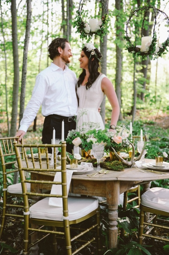 outdoor woodland reception ideas