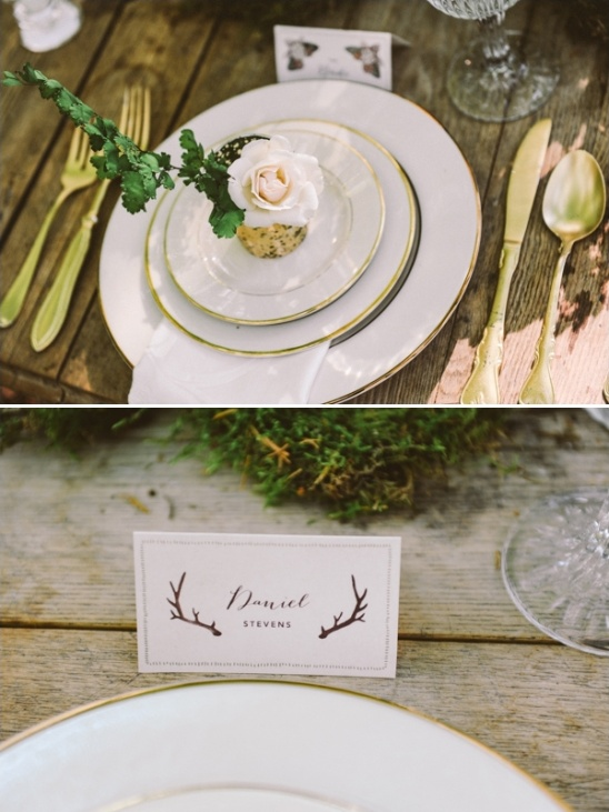 woodsy table setting ideas