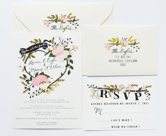 blog - whimsical floral wedding invites by the first snow,