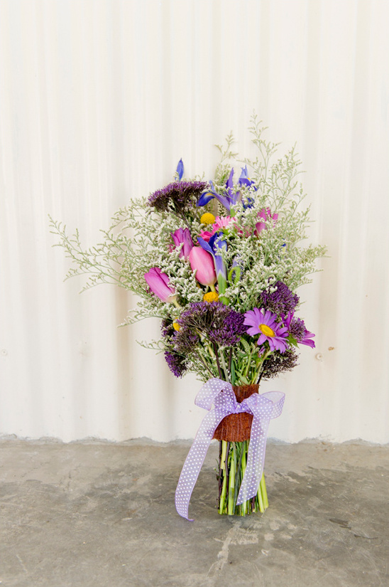 wildflower wedding bouquet by Eco-Chic Weddings