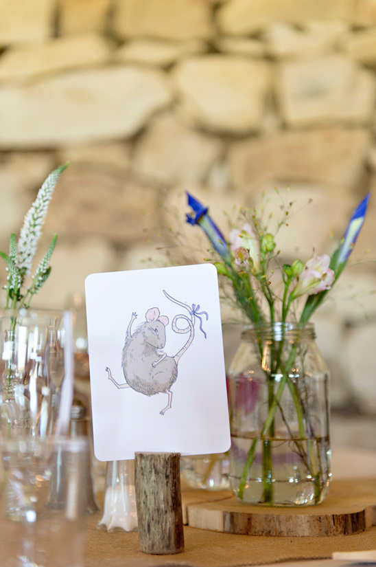 woodland animals instead of table numbers